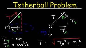 Tetherball Problem  Tension  U0026 Centripetal Force  Uniform
