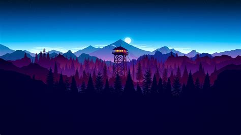 wallpaper firewatch artwork hd  creative graphics