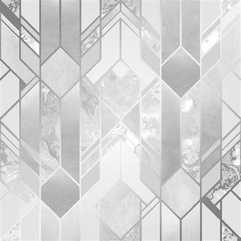 Liquid Marble Geometric Wallpaper Silver Wallpaper From