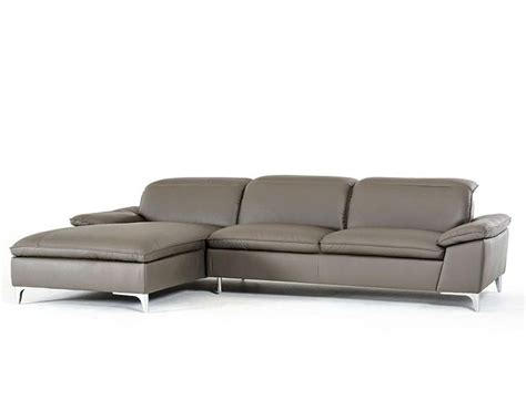 Contemporary Leather Sofa by Contemporary Grey Eco Leather Sectional Sofa 44l5924