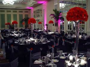 party rentals denver black white centerpieces chairs indoor reception