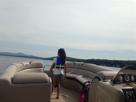 Pontoon Boat Rentals At Lake Winnipesaukee Nh by Like A Living Room Cruising In The Sun Picture Of