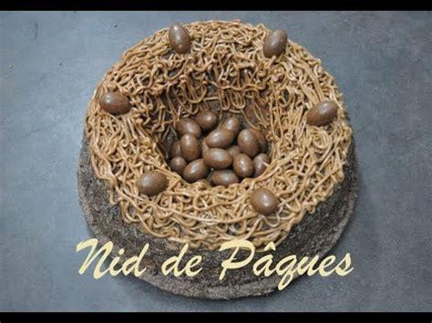 deco nid de paques cake design comment r 233 aliser un nid de p 226 ques