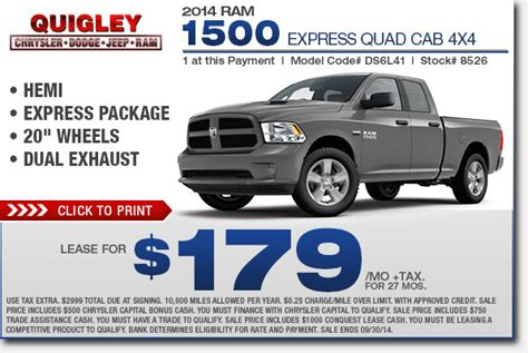 Lease Specials On Ram 1500 4x4 2015  Autos Post
