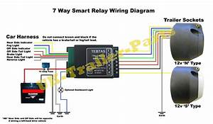7 Way Universal Bypass Relay 12v Tow Bar Electrics Teb7as Wiring Diagram New