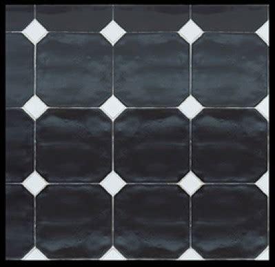 carrelage cuisine noir brillant carrelage 15x15 octogonal avec cabochons cevica sl ce vi