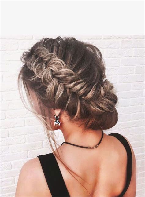 beautiful crown braid with updo wedding hairstyle