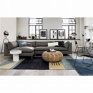 Decker 2 piece sectional sofa from cb2 home for Decker 2 piece sectional sofa