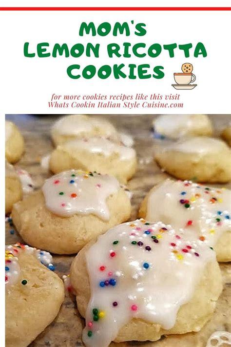 Lemon & ginger christmas cookies kitchenmason easy 13. Mom's Lemon Ricotta Cookies | Italian christmas cookie recipes, Ricotta cookies, Cookie recipes