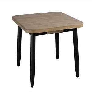 Table De Chevet Ampm : affordable bout de canap table de chevet en acacia massif couleur naturelle et pieds mtal xxcm ~ Teatrodelosmanantiales.com Idées de Décoration