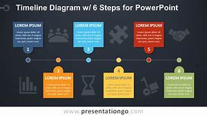 Timeline With 6 Steps For Powerpoint