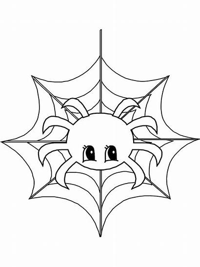 Spider Coloring Pages Halloween Web Animals Printable