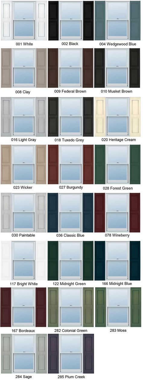 vinyl siding colors home depot home depot plastic shutter colors with vinyl shutters