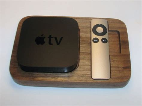apple tv caddy remote holder  solid walnut
