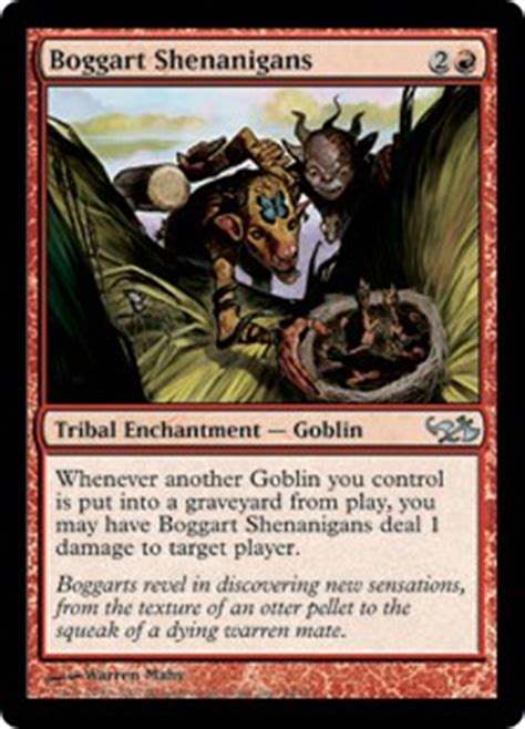 goblin tribal commander deck boggart shenanigans duel decks elves vs goblins