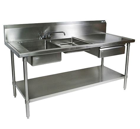 professional kitchen sinks stainless steel prep table remodelista 1670
