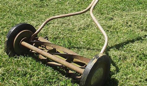 antique push reel lawn mower   antique decor ideas
