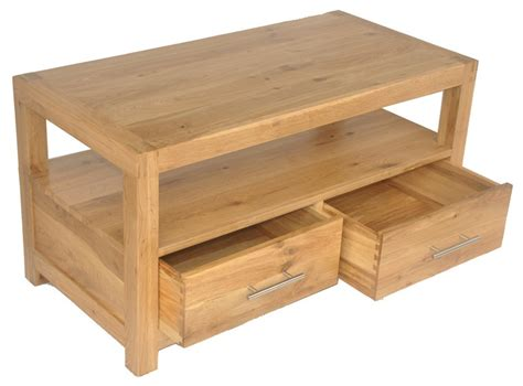 solid oak coffee table solid wood interiors gt solid oak coffee table with 2 drawers