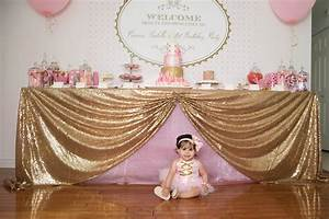 Gorgeous Pink & Gold 1ST Birthday Party Susy Martinez