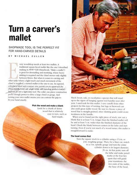 making carvers mallet woodarchivist
