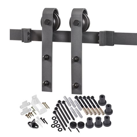 Barn Door Hardware Kit by Matte Black Top Mount Barn Door Kit At Lowes