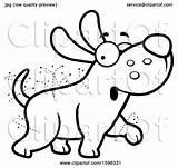 Dog Cartoon Flea Ridden Illustration Clipart Royalty Cory Thoman Vector sketch template