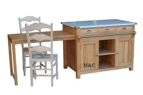 meuble de cuisine ilot central ilot central en bois massif