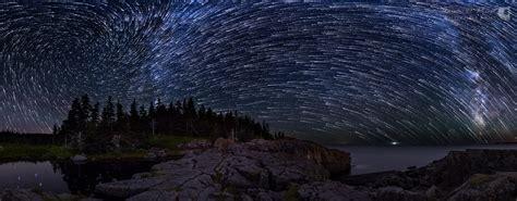 Vortex Star Trails Over The Bold Coast Maine