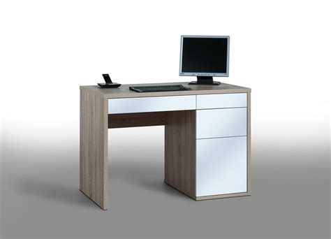 promo bureau promotion bureau informatique design chêne sonoma blanc