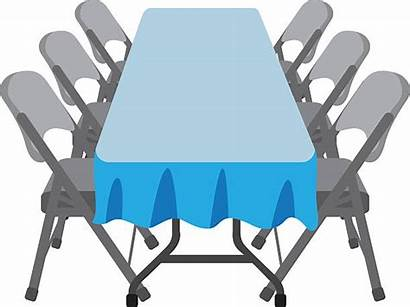 Table Folding Chairs Chair Vector Dining Clip