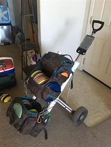 Double Bag Disc Golf Rack That Attaches To An Standard
