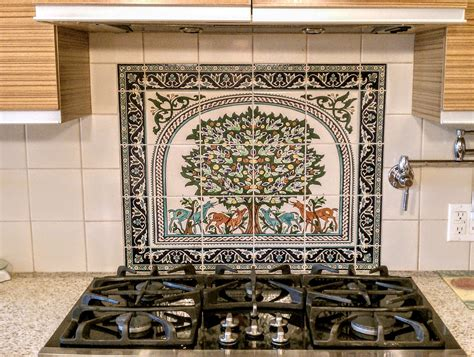 Kitchen Tile Murals Backsplash by Tree Of Kitchen Tile Backsplash Mural Kitchen Tile