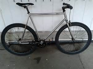 6ku bikes single speed fixie chrome with black wheels