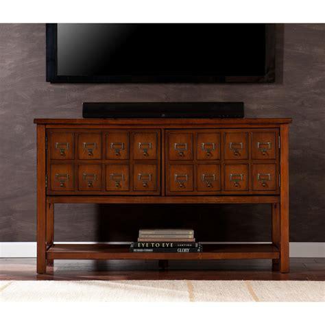 mahogany media stand apothecary console tv stand brown mahogany 3967