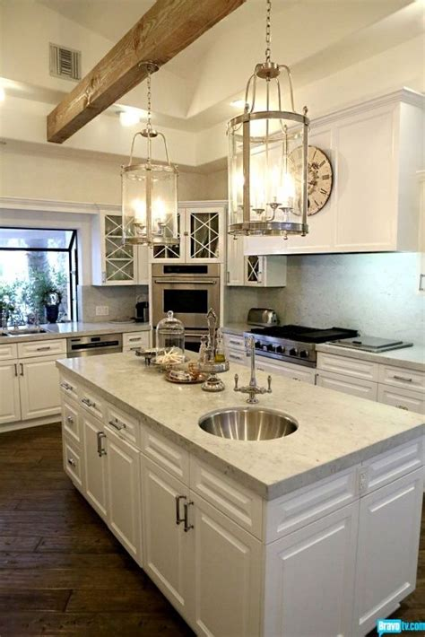 kyle richards kitchen home design ideaslove single wood beam beautiful lights