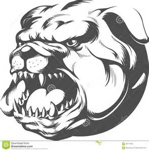 Bulldog Head Silhouette Vector