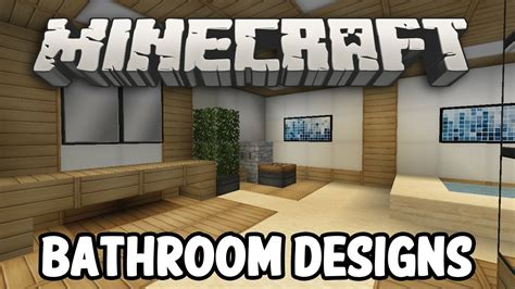 minecraft interior design bathroom edition youtube