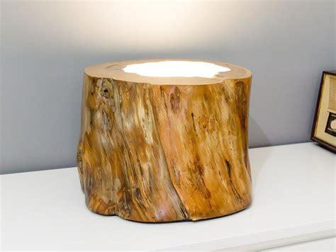wood lamp  epoxy resin    chestnut trunk id