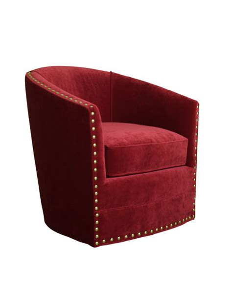 bryn st clair velvet swivel chair
