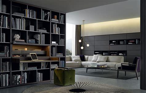 libreria poliform parete attrezzata wall system di poliform design cr s