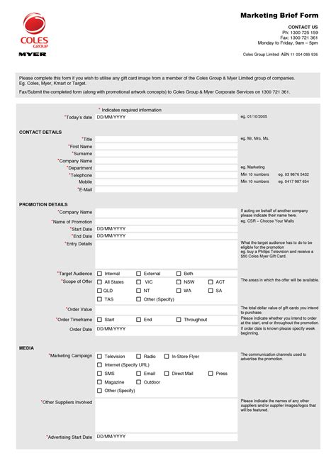Brief Cv Template by Project Brief Template Search Marketing Forms