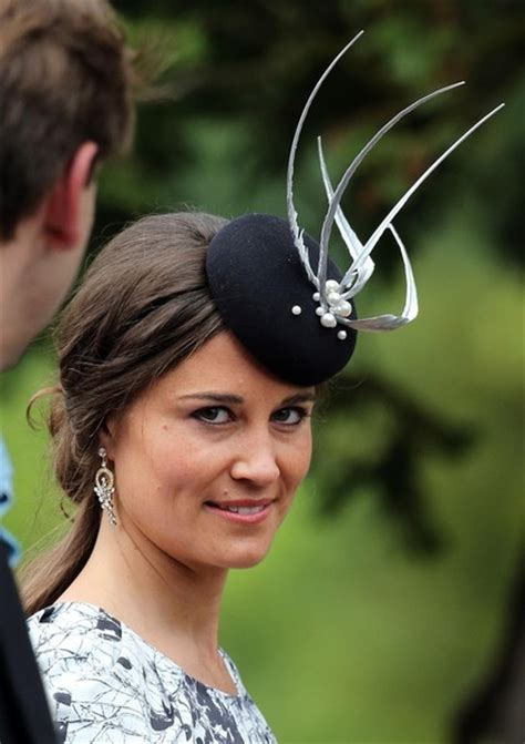 Wearing A Hat After Shower by Pippa Middleton Decorative Hat Pippa Middleton Looks