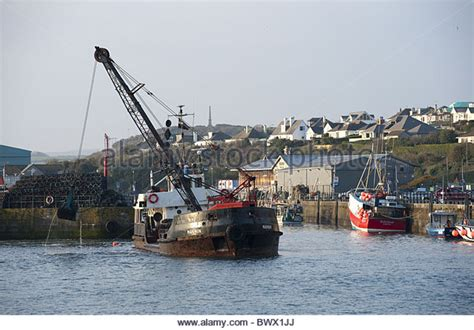 Boat Transport Cornwall by Dredging The Harbour Padstow Stock Photos Dredging The
