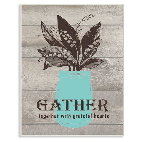 I mean, gather alone can express the idea enough. The Stupell Home Decor Collection Gather Together With Grateful Hearts Wall Plaque Art - Walmart ...