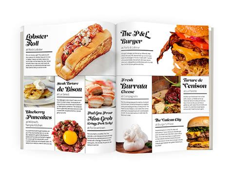 magazines cuisine food article magazine spread designs on pantone canvas gallery