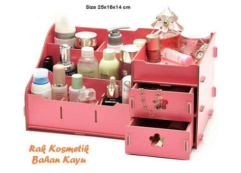 Rak Susun Kosmetik jual rak kosmetik kecil bahan kayu rak susun kosmetik