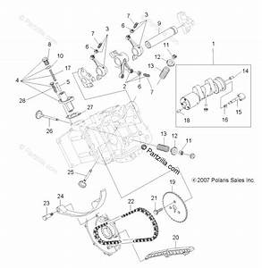 Polaris Atv 2008 Oem Parts Diagram For Engine  Valves