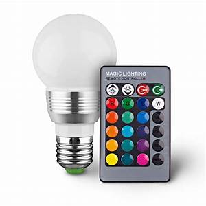 LED Remote Controlled Color Changing Light Bulb - Tanga
