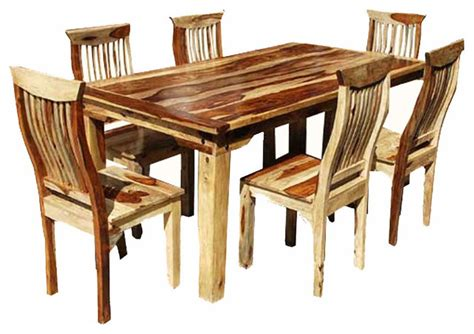 Rustic Dining Room Sets Dallas 7 Wood Dining Room Set Rustic Dining Sets By Living Concepts