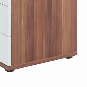 Sideboard Nussbaum Weiß Hochglanz : winkelschreibtisch mit sideboard wei nussbaum computertisch eckschreibtisch neu ebay ~ Bigdaddyawards.com Haus und Dekorationen